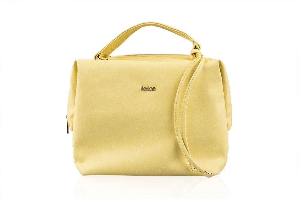 Women's shopper bag FB04 LOCA Yellow Light yellow | Bags \ Shopper ...