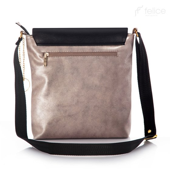 Gold & Black messenger bag Felice Aurora A11