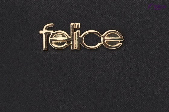 Leather beauty bag Felice Gold Torino