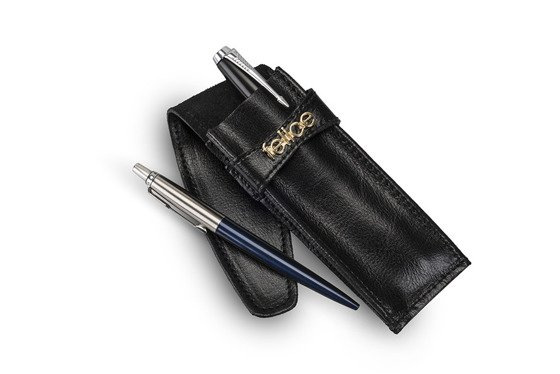 Leather pen case FA13 BLACK