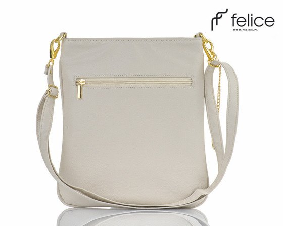Quilted creme messenger bag Felice Aurora A07