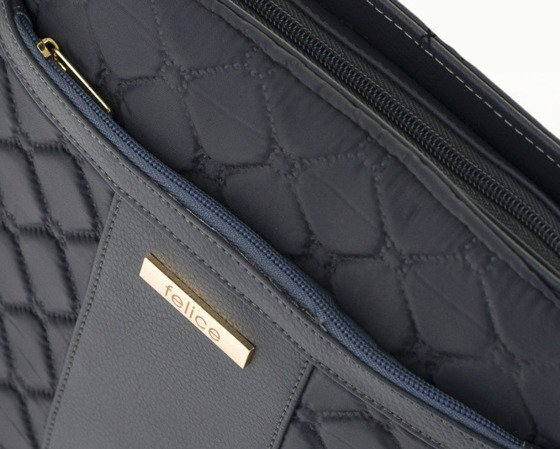 Quilted grey messenger bag Felice Aurora A02