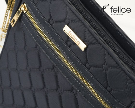 Quilted grey messenger bag Felice Aurora A10