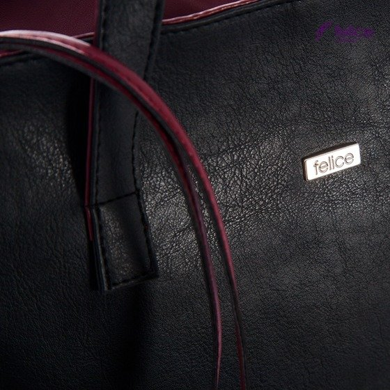 Shopper bag Felice Verona - black