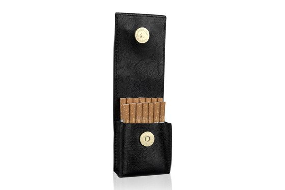 WOMEN'S ECO LEATHER CIGAR CASE FELICE FA14 STANDARD GOLD SNAKE